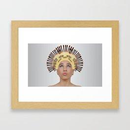 Assez des cheveux CASSANTS Framed Art Print