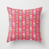 tiki Throw Pillows featuring Tiki by Abby Galloway