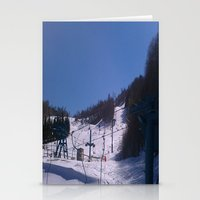 skiing Stationery Cards featuring skiing place by westchestrian_art