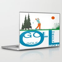 golf Laptop & iPad Skins featuring Golf, golf, golf! by South43