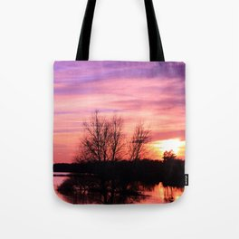 Pink Sky at Dusk Tote Bag