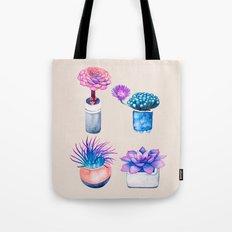 Succulents Cactus pattern Tote Bag
