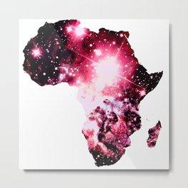 Pink Nebula Galaxy Africa Metal Print