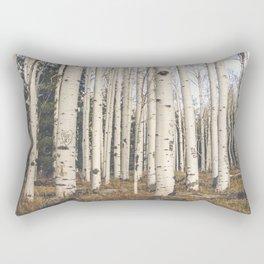Trees of Reason - Birch Forest Rectangular Pillow