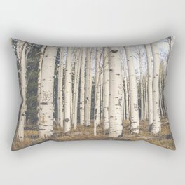 Trees of Reason - Birch Forest Rectangular Pillow