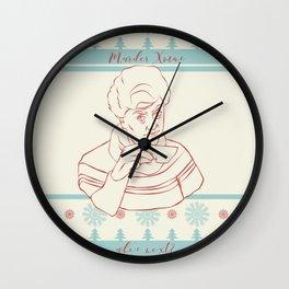 Murder Christmas Jessica Fletcher Wall Clock
