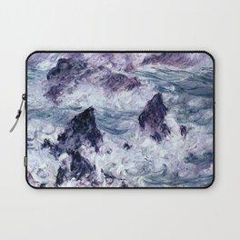 Monet : Storm At Belle Ile Laptop Sleeve