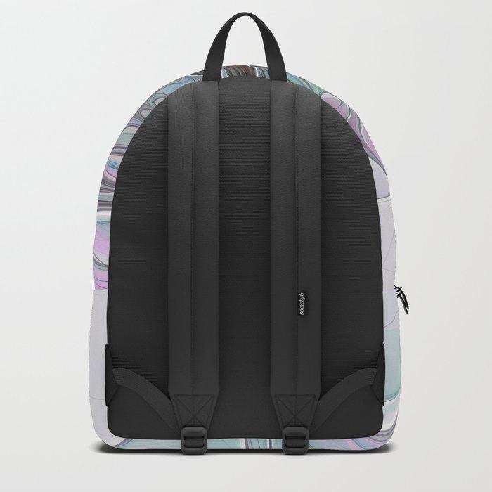 Colorful Fantasy Abstract Modern Fractal Flower Backpack