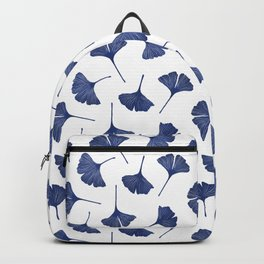 Blue Ginkgo Biloba Pattern Backpack