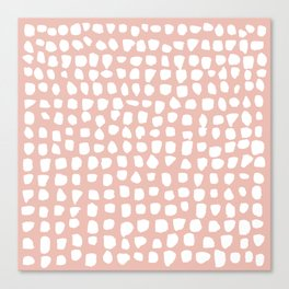 Dots / Pink Canvas Print