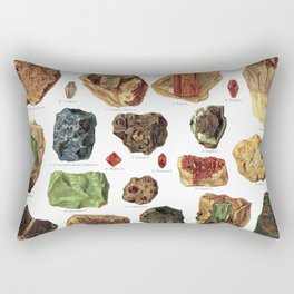 Vintage Gems And Minerals Rectangular Pillow