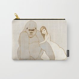 Gorilla and Girl Carry-All Pouch