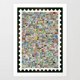 The Soccer Stamp Art Print