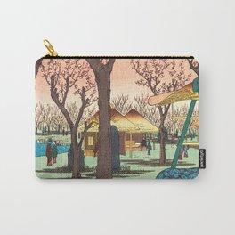 Plum Garden Carry-All Pouch