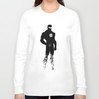 justice league Long Sleeve T-shirts featuring justice Silhouette #5 by iankingart