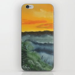 What lies beyond the valley iPhone Skin