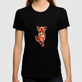 Cute Little Red Fox water colour ink T-shirt