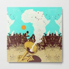 AFRICAN HORN Metal Print