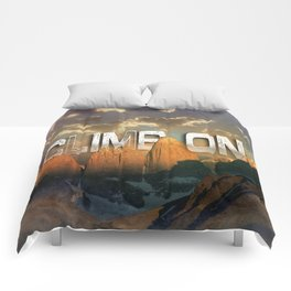 Climb the Mountains Comforters