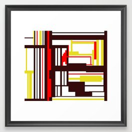 CREATIVE ART WITH RED, BROWN AND YELLOW Framed Art Print
