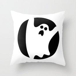 ghosty black Throw Pillow