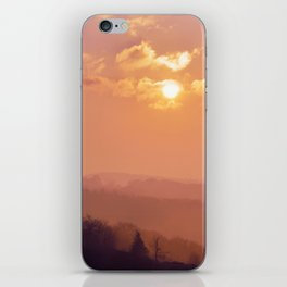 Sunset Over the Woods iPhone Skin