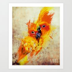 Love Birds Art Print