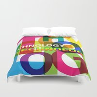 technology Duvet Covers featuring Creative Title : TECHNOLOGY by Don Kuing