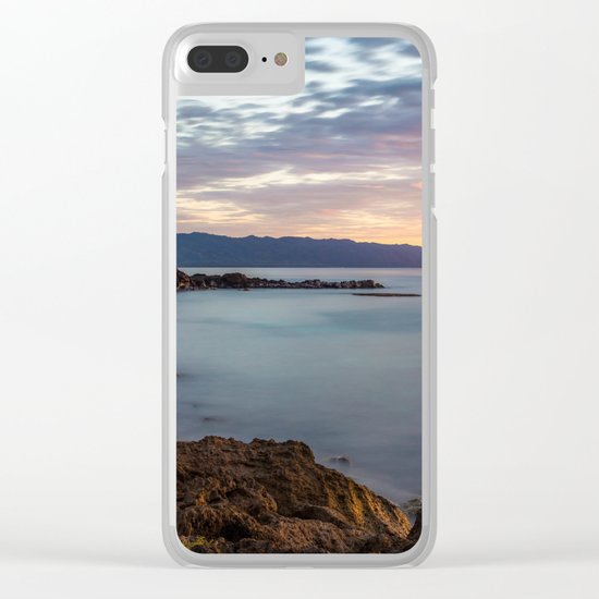 Three Tables Beach, Haleiwa, USA Clear iPhone Case