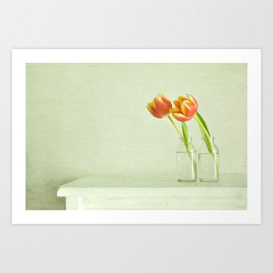 two tulips Art Print