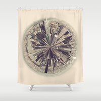 manhattan Shower Curtains featuring Manhattan by katievanmeter