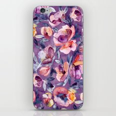 May Afternoon - a watercolor floral in purple and peach iPhone & iPod Skin