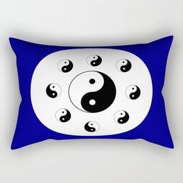 Yin and Yang 14 - Tao,Zen,Taoism,Dao,Harmony,religion,buddhism,buddhist,taijitu,taiji,taoist,china Rectangular Pillow