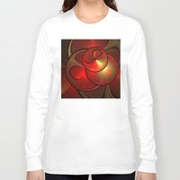 the shining Long Sleeve T-shirts featuring Shining Fractal by gabiw Art