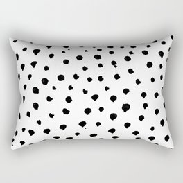 Dalmatian dots black Rectangular Pillow