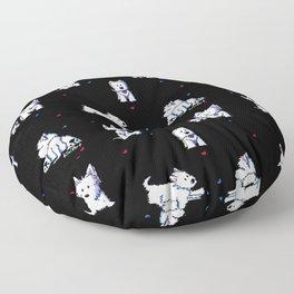 KiniArt Westie Block Party Floor Pillow