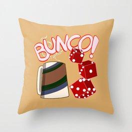 Bunco Brunch Throw Pillow