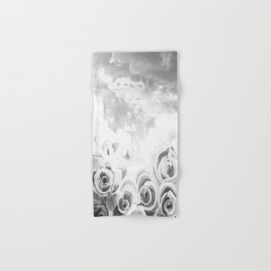 Fading Roses Silver Lining Hand & Bath Towel