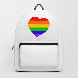 LGBT Rainbow Colors Heart Backpack