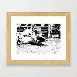 Bull Riding Champ Framed Art Print