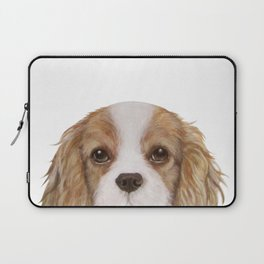 Cavalier King Charles Spaniel Dog illustration original painting print Laptop Sleeve