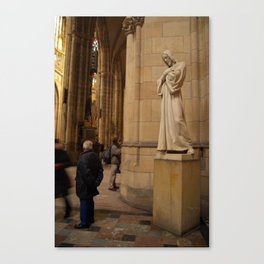 Statue of Christ in St Vitus Cathedral  Canvas Print