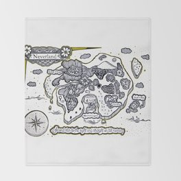 Neverland Illustration  Throw Blanket