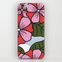 scandinavian iPhone & iPod Skins featuring Scandinavian Garden by She's That Wallflower