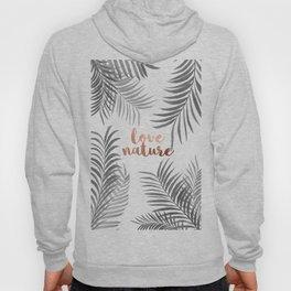 Silver Palm Leaves Hoody