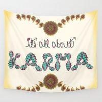 karma Wall Tapestries featuring Karma by famenxt