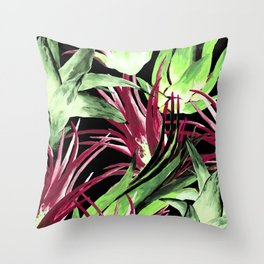 Moody Airplants Throw Pillow