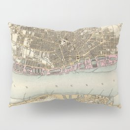 Vintage Map of Liverpool England (1872) Pillow Sham