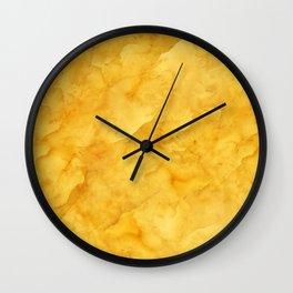 Golden amber texture Wall Clock