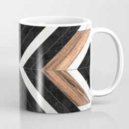 Urban Tribal Pattern No.1 - Concrete and Wood Coffee Mug